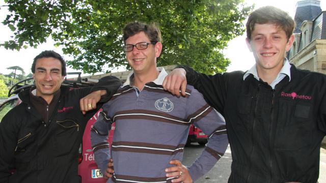 De gauche à droite : Ronan de Landevoisin, Arnaud de Rougé et Paul de Rougé, les trois mousquetaires de Ramonetou, une entreprise à l'ascension fulgurante. | Ouest-France